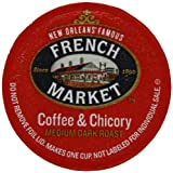 French Market Coffee Roast Single Serve Cups, Dark Roast Coffee and Chicory,12 count
