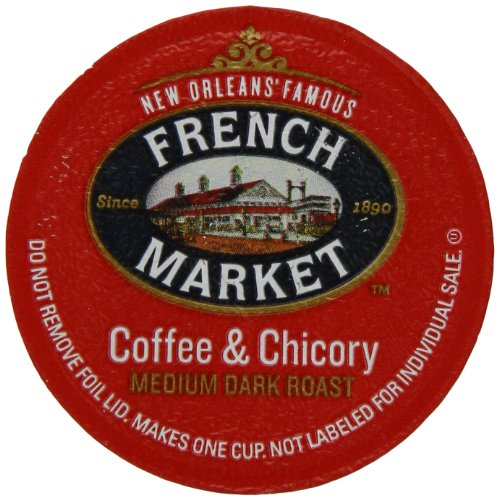 French Market Coffee Roast Single Serve Cups, Dark Roast Coffee And Chicory (Pack Of 12)