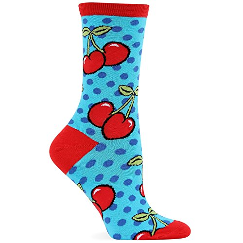 Hot Sox Women's Cherry Dots Crew Socks