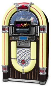 Electrohome Kinsman Jukebox with CD Player, FM Radio, USB & SD Playback and MP3 Input - EAJUK500
