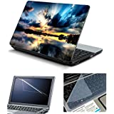 """Psycho Art Laptop Accessories Combo 3in1 15.6"""" Inch Laptop Skin Decal, Screen & Key Guard PS0211"""