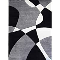 Modern Area Rug Hollywood 284 Gray