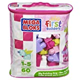 Mega Bloks First Builders Big Building Bag (60 pcs) Pink 1+