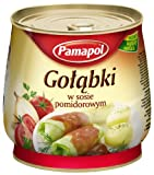 Pamapol Cabbage Leaves Stuffed with Meat in Tomato Sauce Golabki 920 g (Pack of 3)