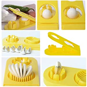 Egg Slicer (Yellow) by 3Y