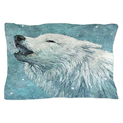 c7dac961447  Detail shop CafePress Howling White Wolf Pillow Case - Standard White.