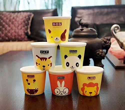 Cute Cartoon Animal Ceramic Coffee Cup Mug for Kids, Without Handle