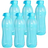 Chetan Plastic Water Bottle, 1 Litre, Set Of 6, Blue