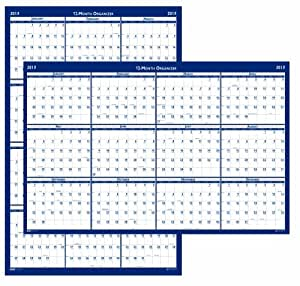 House of Doolittle Laminated Write-On/Wipe-Off Wall Planner, January 2013 to December 2013, 24 x 37-Inches, Vertical or Horizontal, Recycled (HOD396)