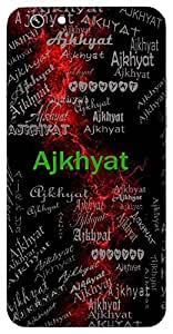 Ajkhyat (Famous) Name & Sign Printed All over customize & Personalized!! Protective back cover for your Smart Phone : Samsung Galaxy A-5