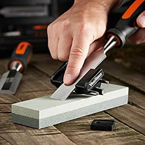 VonHaus 8 pc Craftsman Woodworking Wood Chisel Set for Carving with Honing Guide, Sharpening Stone and Storage Case (Tamaño: 8 pc)