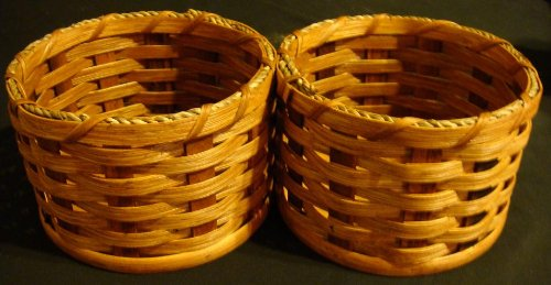 Amish Handmade Home and Garden Peanut Basket. This Handmade Basket Was Designed to Put Nuts in One Side and Empty the Shells in the Other Side. It Makes a Very Unique Gift. Colors May Vary (Black, Brown, Red, Blue, Green, Purple, Burgundy, Natural)