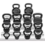 Yes4All Solid Cast Iron Kettlebell fo...