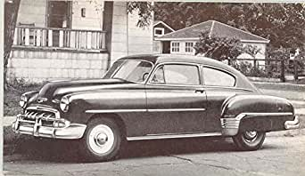 1952 chevrolet fleetline 2 door sedan factory postcard at for 1952 chevy 2 door sedan