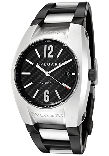 Bulgari Men's Diagono Mechanical/Automatic Black Carbon Fiber Dial Black Rubber