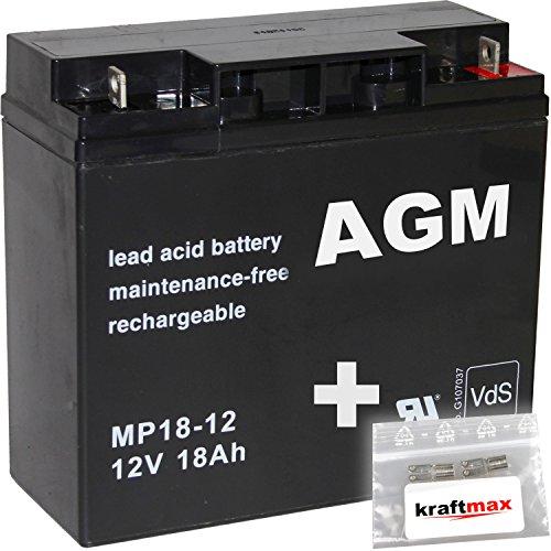 1x-AGM-12V-18Ah-Blei-Akku-MP18-12-M5-Bolzen-inkl-Schraube-und-Mutter-VdS-geprft-inkl-2x-Original-Kraftmax-Anschlu-Adapter