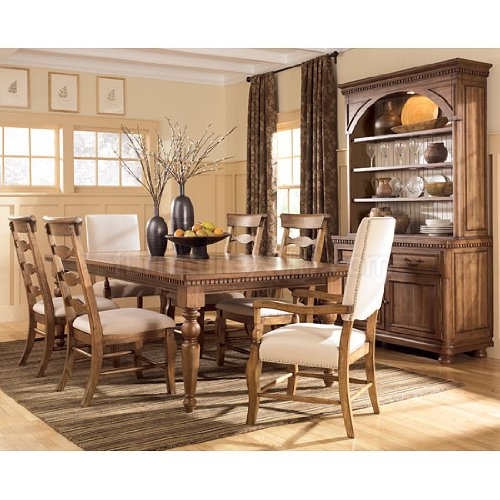 Summerlands Dining Room Set w/ Arm Chairs by Ashley Furniture