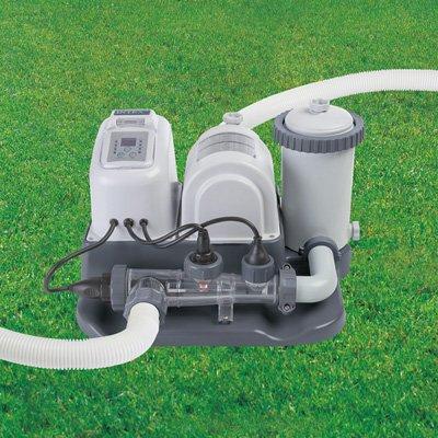 Intex krystal clear 1 200 gph filter pump saltwater - Salt water pumps for swimming pools ...