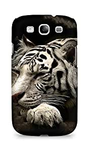 Amez designer printed 3d premium high quality back case cover for Samsung Galaxy S3 Neo (Siberian white tiger)