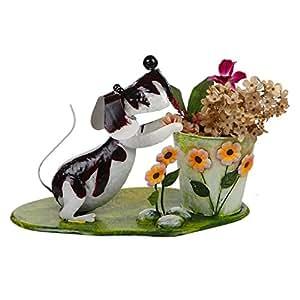 Wonderland Garden Decorative Garden Dog with Pot : Pots, Home Decor, Gift Item