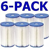 Intex 59905E Type B Pool Filter Cartridge (6-Pack) (Discontinued by Manufacturer)