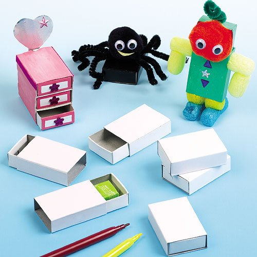 Craft matchboxes 52mm x 35mm for children to decorate and for Blank matchboxes for crafts