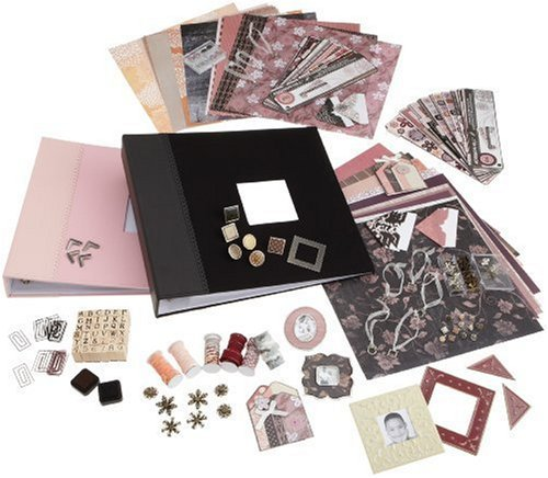 SCRAPabilities Scrapbooking gift Set, Black/Pink