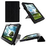 RooCASE ASUS MeMO Pad FHD 10 ME302C / MeMO Pad Smart 10 ME301T Origami Case Cover - Black