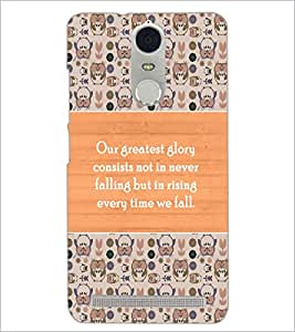 PrintDhaba Quote D-3689 Back Case Cover for LENOVO K5 NOTE (Multi-Coloured)