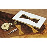 MLCS 9177 Brass Router Inlay Kit with Router Bit