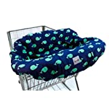 Itzy Ritzy Shopping Cart and High Chair Cover, Whale Watching Blue