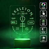 CMLART Twenty One Pilots Skeleton 3d Lamp Night 7 Color Change Best Gift Night Light LED Furnish Desk Table Lighting Home Decoration Toys