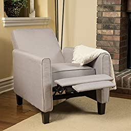 Christopher Knight Home Darvis Wheat Fabric Recliner Club Chair Solid Frame and Sturdy Feet