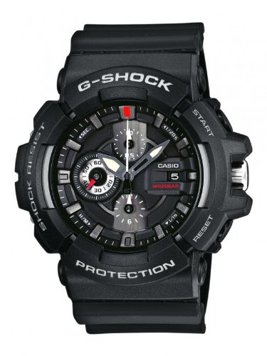 G-SHOCK Men's Quartz Watch with Black Dial Analogue Display and Black Resin Strap GAC-100-1AER