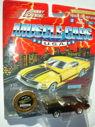 Johnny Lightning 1994 Muscle Cars USA Black 1969 Olds 442 Series 7
