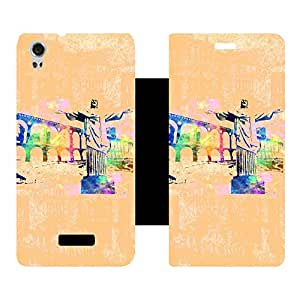 Phone Candy Designer Flip Cover with hi-res printed Vinyl sticker wrap-around for Lava Iris X9