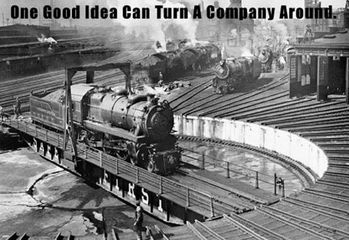 One Good Idea Can Turn A Company Around, 12X18 Canvas Giclée, Gallery Wrap front-1060215