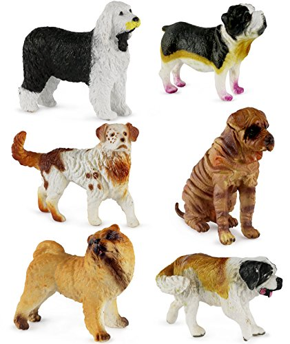 Click N' Play Assorted Beautiful Detailed Canine Dog Animal Set.