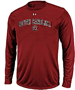South Carolina Gamecocks Cardinal Poly Dry HeatGear NuTech Long Sleeve Shirt by Under... by UA