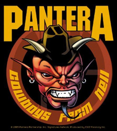 Licenses Products Pantera Cowboy Sticker - 1