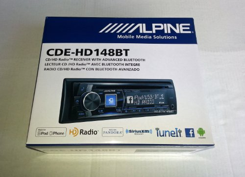Alpine CDE-HD148BT CD Receiver with built-in Bluetooth & HD Radio