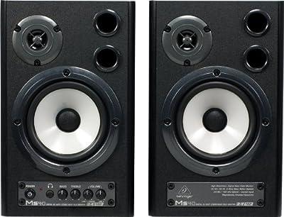 Behringer Speaker MS40 Digital 40-Watt Stereo Near Field Monitors by Behringer USA