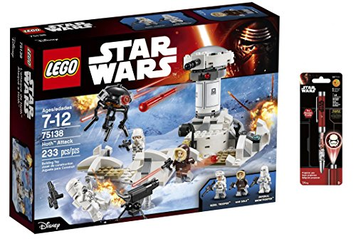 LEGO Star Wars Wars Hoth Attack 233 Pcs & Star Wars Projector Pen, Colors may vary Playsets Building Toys (Lego Imperial Probe compare prices)