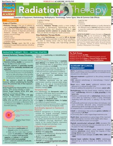 Radiation Therapy (Quickstudy: Academic)