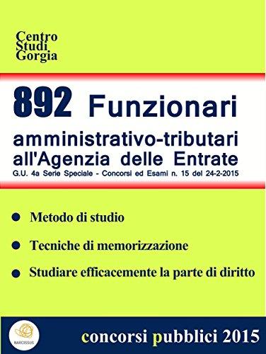 Ebook 892 funzionari amministrativo tributari all 39 agenzia - Iva 4 costruzione prima casa agenzia entrate ...