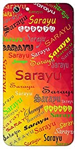 Sarayu (Wind) Name & Sign Printed All over customize & Personalized!! Protective back cover for your Smart Phone : Moto G-4-PLAY