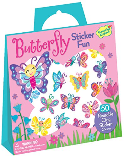 Peaceable Kingdom Sticker Fun! Butterfly Reusable Sticker Tote