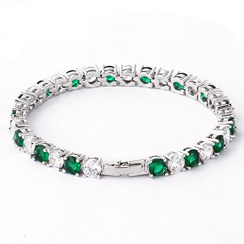 Leaf Heart Christmas Gifts Swarovski Elements Cubic Zircons Green Crystal Fashion Wedding Party Luxury Bracelets(F1537)