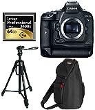 Canon EOS-1D X Mark II Digital SLR Camera Body + Lexar Professional 3400x 64GB CFast 2.0 Card + Ritz Gear 70