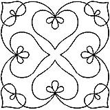 Bleeding Heart Medallion Quilting Stencil